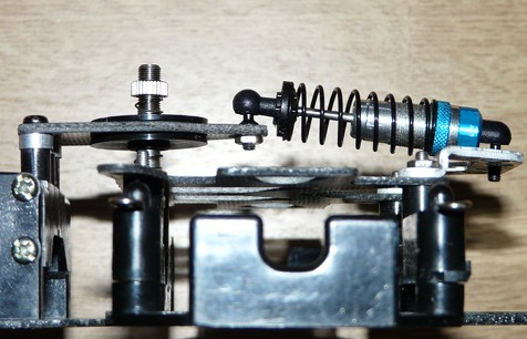 Tamiya F-103 rear drivetrain suspension